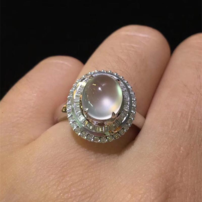 Wenfu jewelry emerald egg ring inlaid processing custom 18K Ring Pendant Earring Necklace gem empty holder