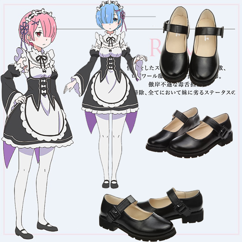 Remram uniform shoes Lolita JK Japanese Laurie college maid Cosplay animation shoes