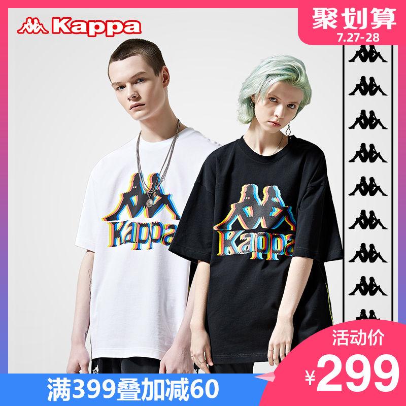 Kappa卡帕banda串标情侣男女运动短袖休闲T恤2019新款 KPARWTD70M