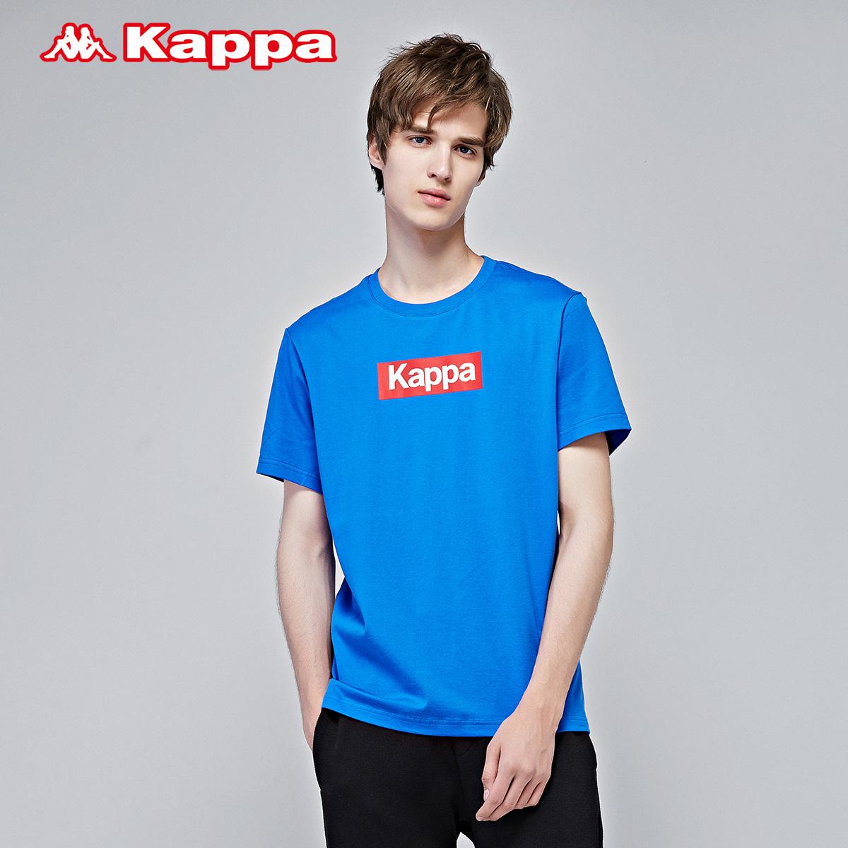 Kappa 卡帕男款运动短袖 透气休闲T恤健身衣|K0712TD12D