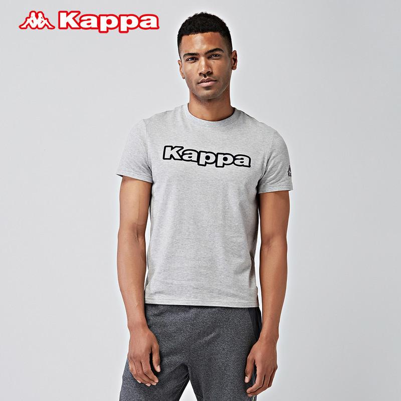 Kappa卡帕背靠背男T恤运动健身短袖纯棉吸汗透气休闲半袖