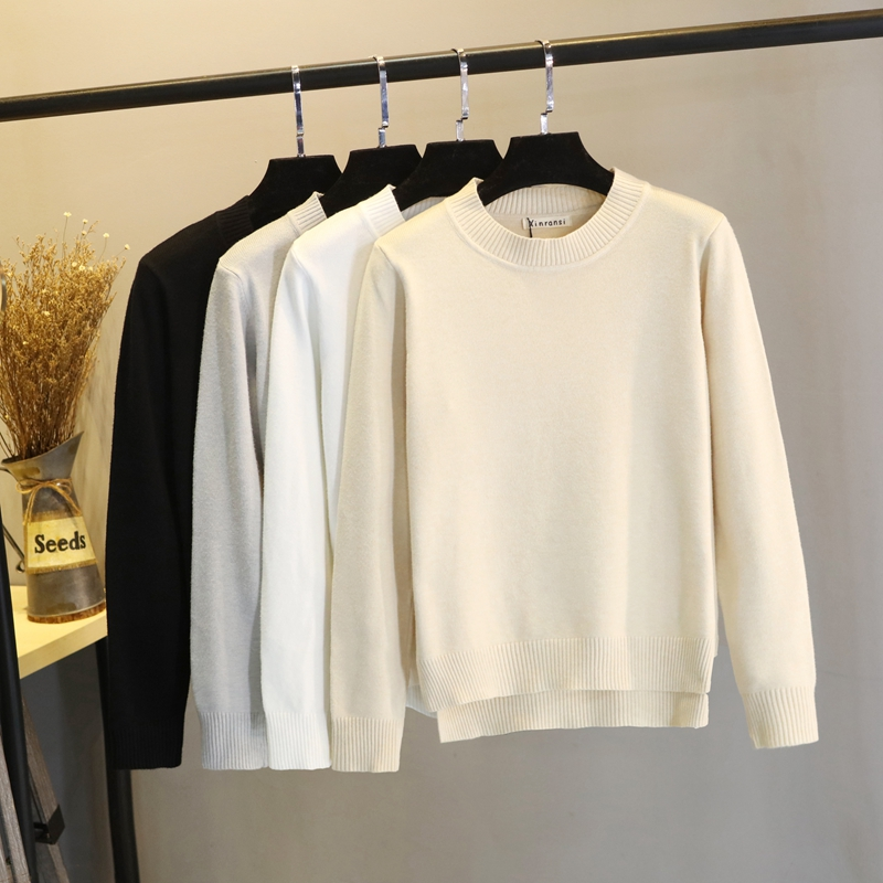 Womens long sleeve round neck T-shirt in autumn and winter 2020