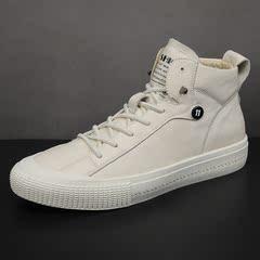韩版潮鞋百搭潮流高帮鞋休闲运动板鞋真皮鞋子D248-3611-63P220