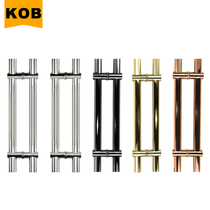 KOB special thick adjustable hole distance from the gate handle stainless steel door handle glass door wooden door flat tube big handle