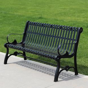 公园椅户外长椅铁艺长凳休闲椅子靠背双人金属小区园林椅室外座椅