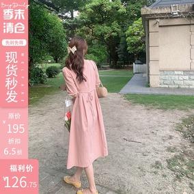 【季末打折】bingdaily方形女连衣裙