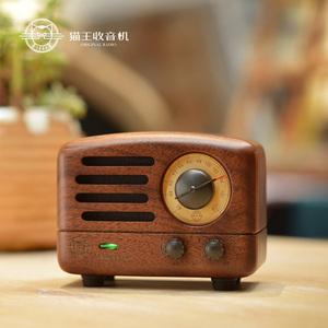 猫王收音机 MW-2猫王小王子胡桃木便携手机蓝牙音箱小音响 迷你