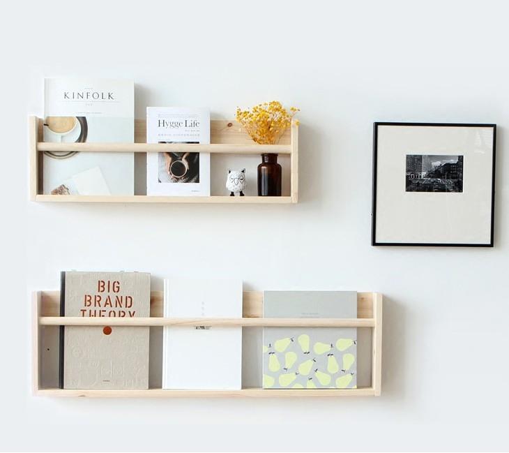 热销213件需要用券墙上置物架幼儿园在墙面卧室儿童装饰组合壁挂式实木学生简易书架