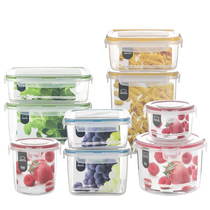 Le buckle le buckle flagship store preservation box plastic fruit seal with rice microwave box food storage box Set