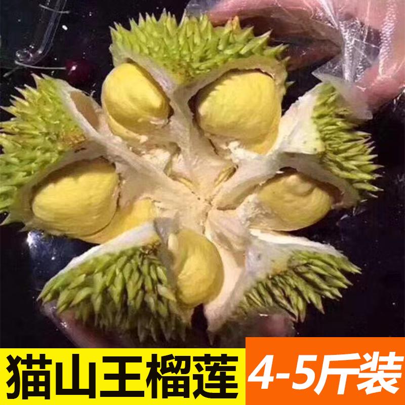 当季猫山王榴莲现摘现发孕妇新鲜热带水果整箱批发3公斤1-2个