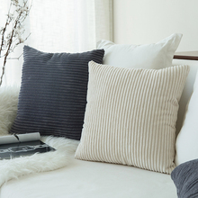 Pillows, cushions, bedrooms, pillows, bedsides, sofas, backrests, office waists, solid color stripes, pillow covers, without cores