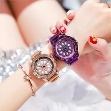 轉運表時來運轉手表女防水時尚潮流旋轉女士網紅學生女表國產腕表