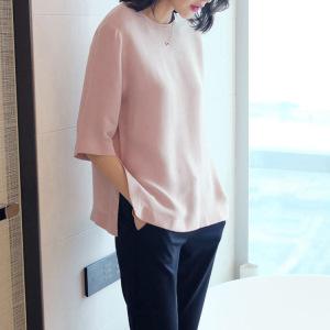 短袖2020夏季宽松纯色圆领重磅t恤