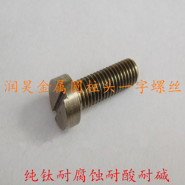厂家直销 钛螺丝M2.5M3,M6规格 圆柱头一字DIN 84 纯钛GR2标准件