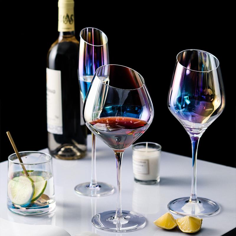 特家梦幻彩虹斜口水晶葡萄酒红酒杯限9000张券