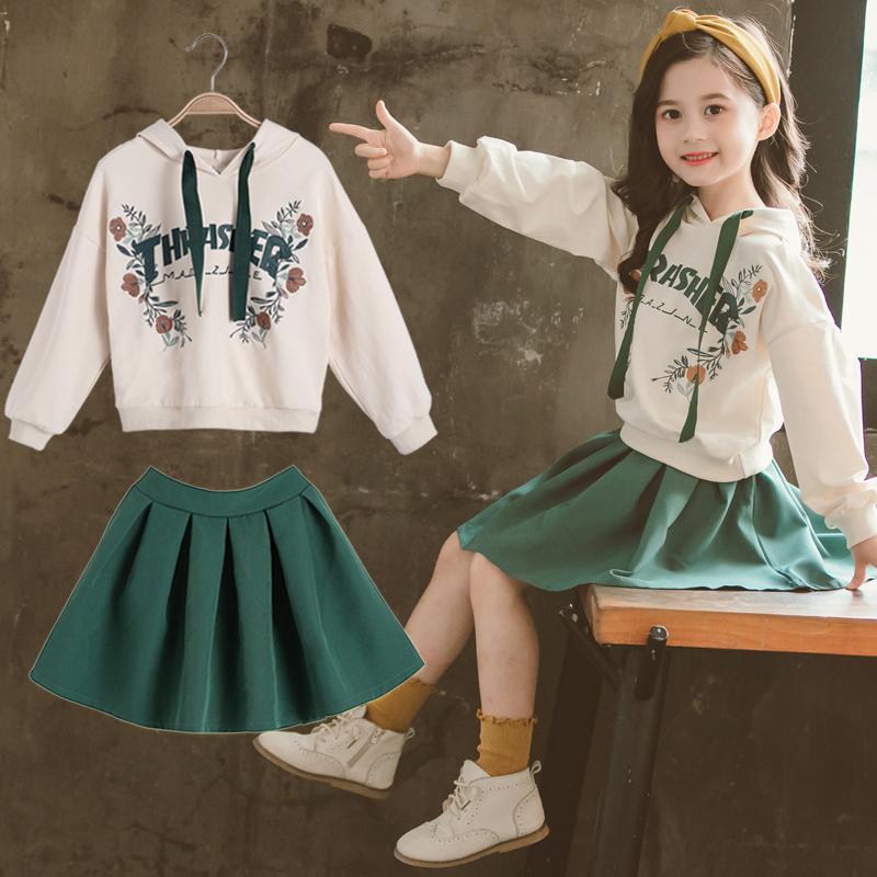 女童秋装裙子两件套2019新款童装中大童春季儿童网红时髦洋气套装