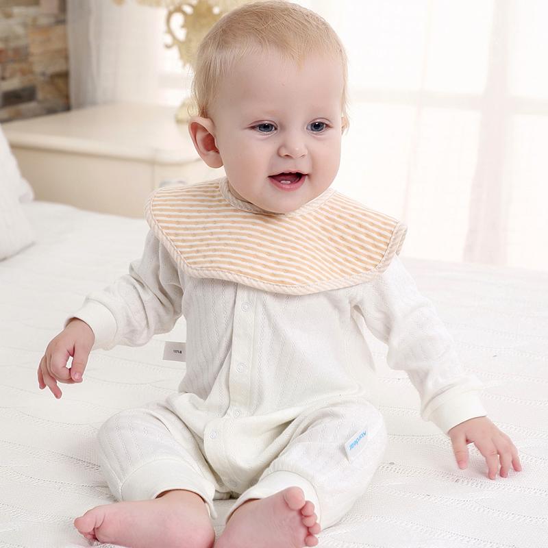 嬰兒按扣圍嘴新生兒小孩寶寶兒童 吃飯口水巾圍兜360度可旋轉