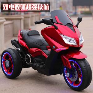 新款儿童电动摩托车男孩女宝宝三轮车充电小孩玩具汽车可坐人