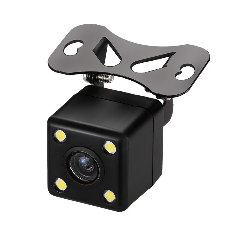車載倒車影像攝像頭汽車 外掛可調CCD高清帶標尺夜視專車