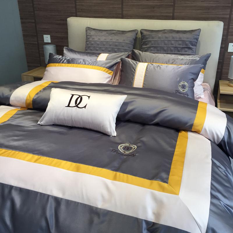 (用10元券)全棉纯棉四件套冰丝欧式丝滑款床单