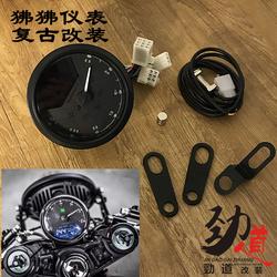 摩托车复古改装CG125里程表转速油表狒狒液晶led仪表游侠复古改装