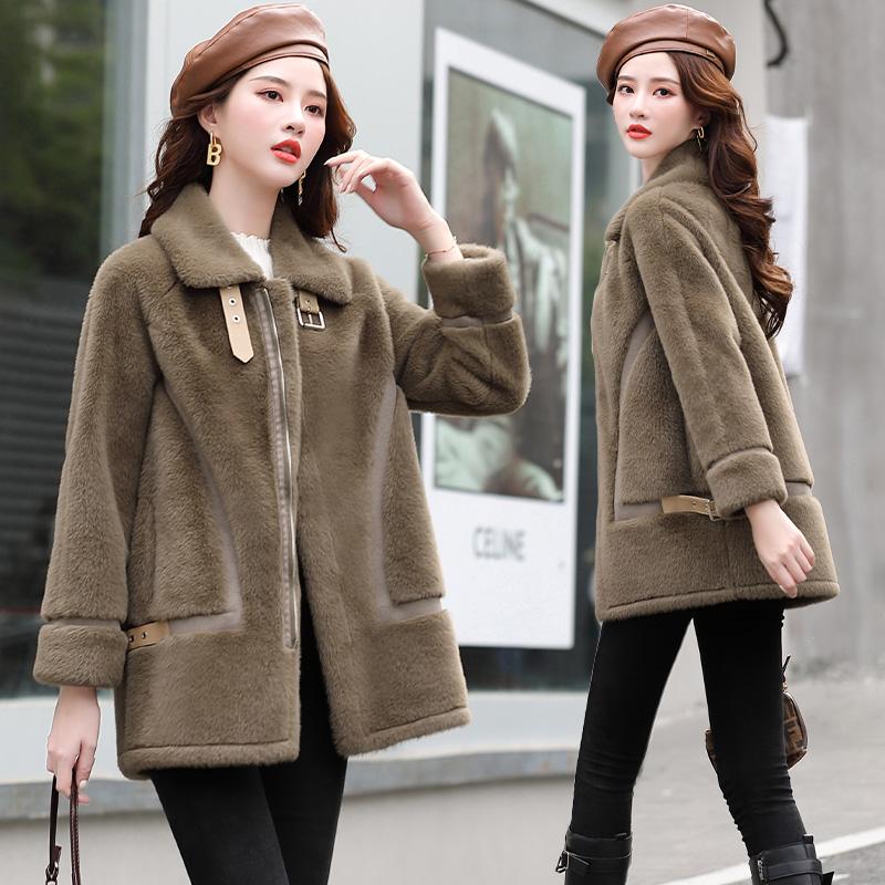 63935ロングウール保温コート厚手コート毛皮一体ファッションBESTBAO上新型レディース服