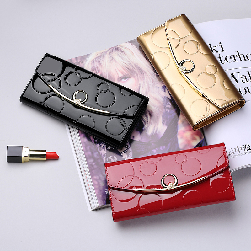 Alere 2018 new womens wallet cowhide 20% off wallet Long Wallet womens European and American multi card carrying bag
