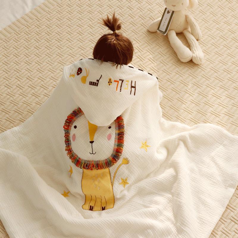 新生宝宝六层纱布包被襁褓春秋抱被