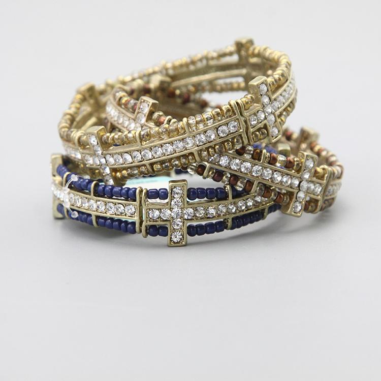 Y Vintage Vintage Antique Beaded Elastic Bracelet
