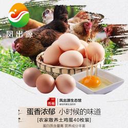 农家自养散养土鸡蛋40枚包邮正宗土特产新鲜土鸡蛋草鸡蛋笨鸡蛋