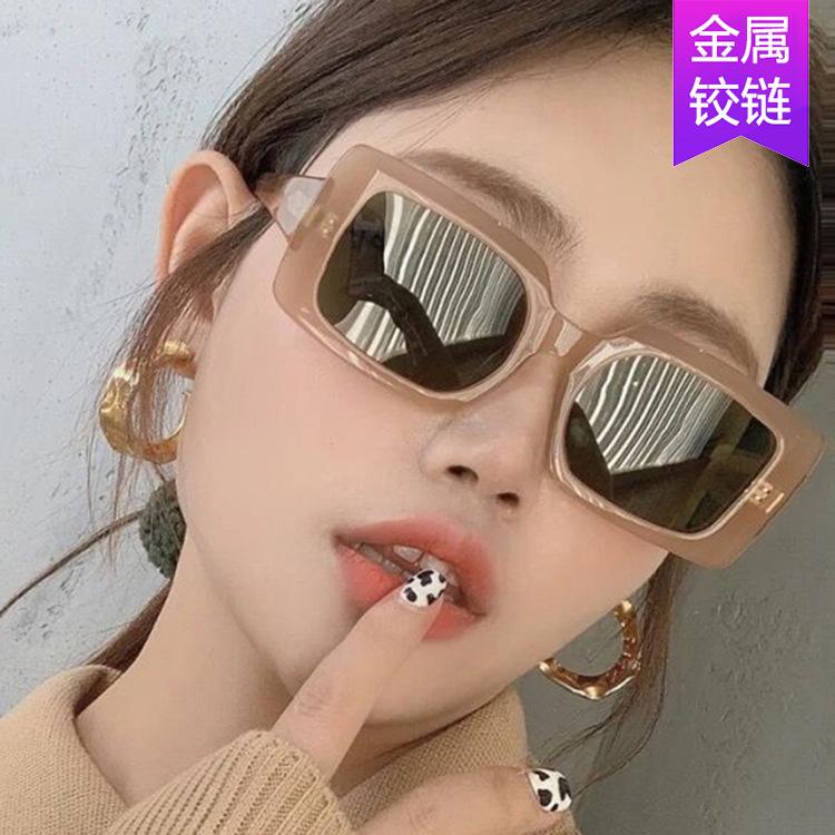 欧美时尚长方形太阳镜2021新款蹦迪墨镜潮流男女通用街拍网红眼镜