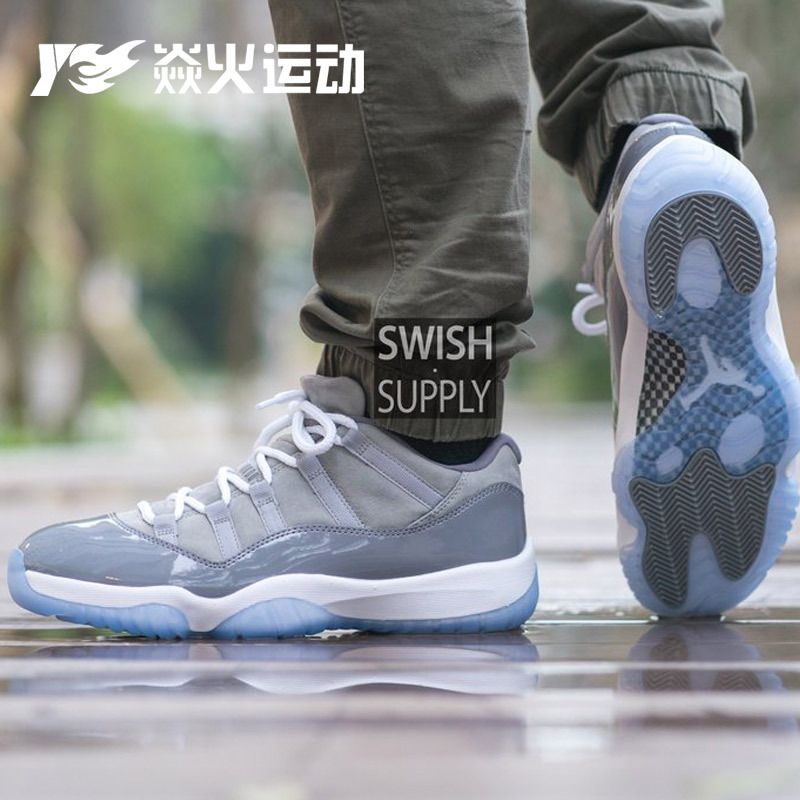 焱火 Air Jordan 11 Low AJ11 乔11酷灰低帮 528895-528896-003