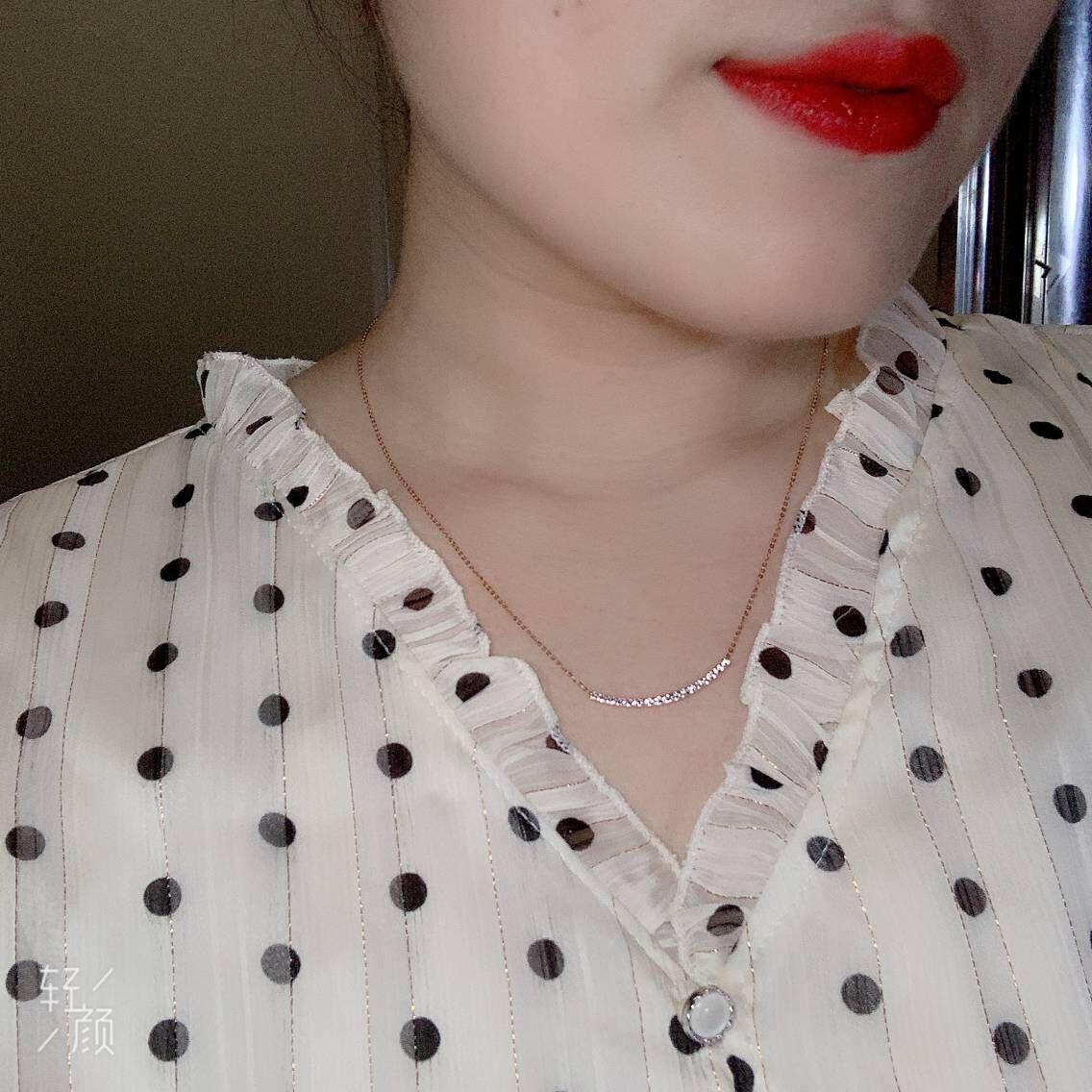 寸可调节1816金双面笑脸项链18K小俊香港六福珠宝