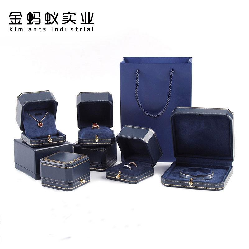 欧式珠宝首饰盒高档求婚钻戒盒吊坠盒项链盒复古戒指盒婚礼对戒盒图片