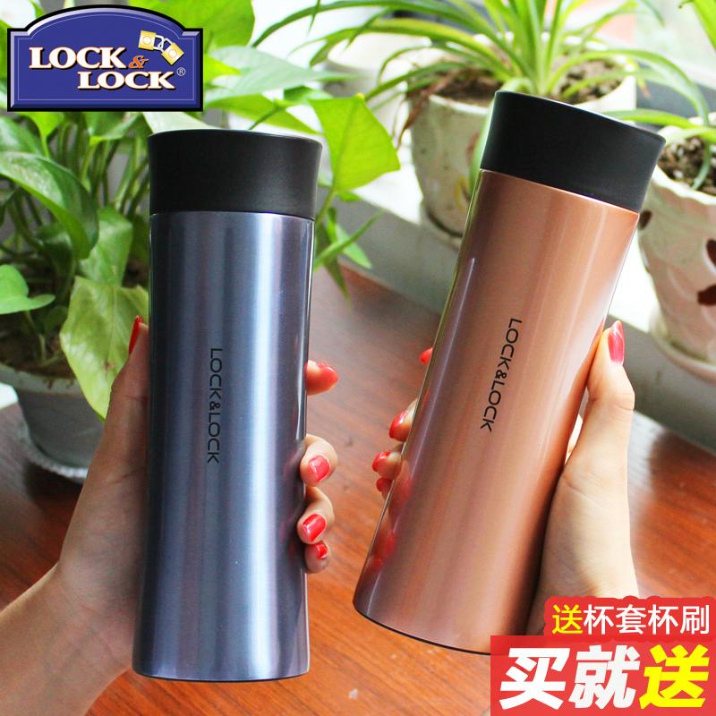 韩国乐扣乐扣保温杯304不锈钢真空水杯男女士商务杯带滤网茶杯
