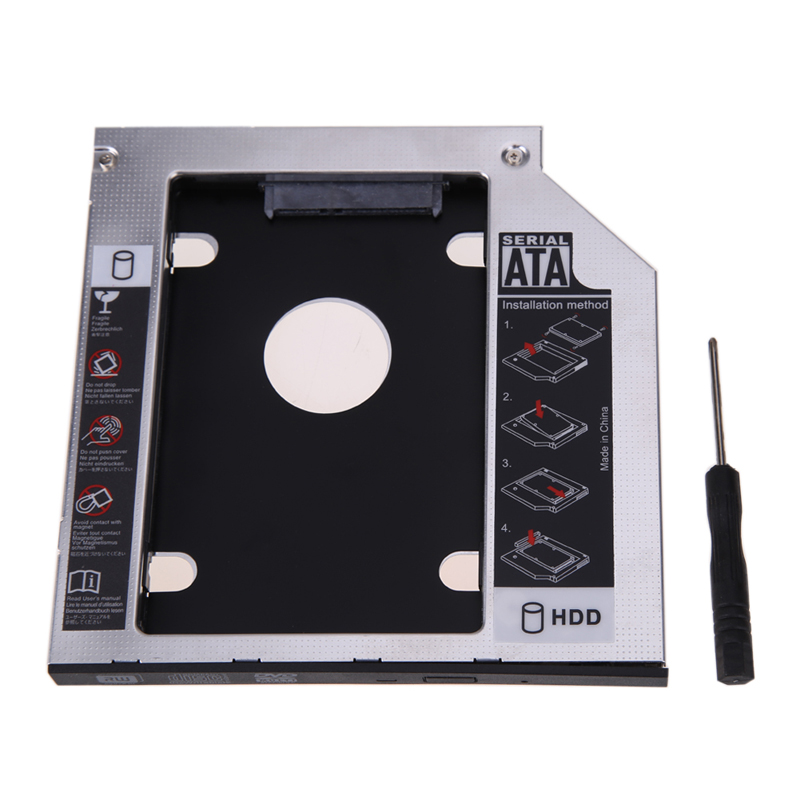 2nd HDD Caddy SATA 3.0 DVD HDD Adapter for 2.5'' 9.5mm SSD H