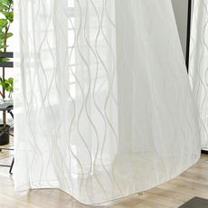 窗帘纱帘薄窗纱布料成品特价清仓落地纯白色莎卧室阳台纱简约现代
