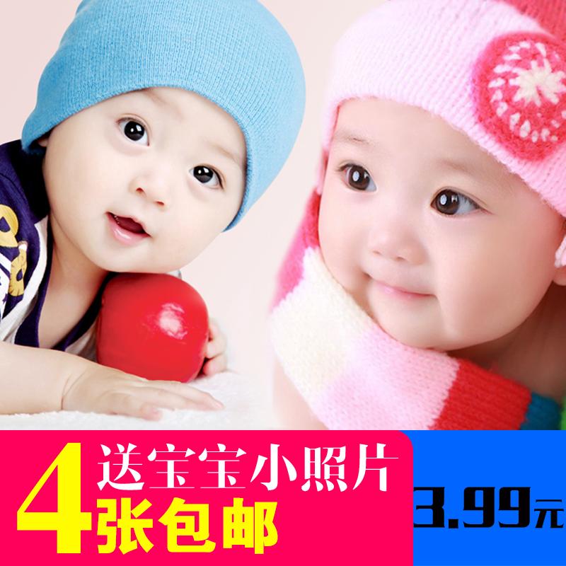 宝宝海报照片画报漂亮可爱男婴儿画像孕妇备孕胎教图片墙贴BB女宝 Изображение 1