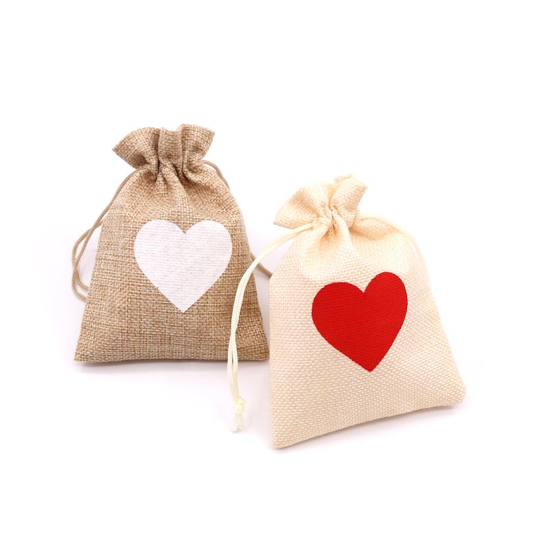 纯色白色麻布袋首饰包装袋饰品袋环保袋麻布包装袋礼品收纳袋定制