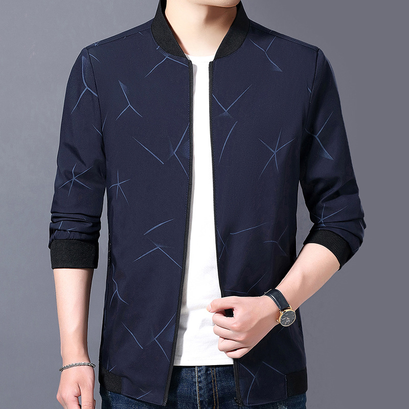 New mens jacket in autumn and winter of 2019, casual fashion and slim personality coat
