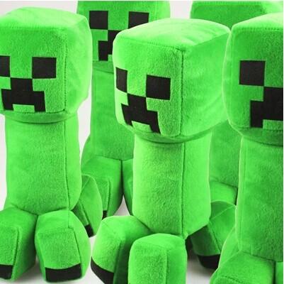 我的世界苦力怕公仔抱枕 Minecraft苦力怕抱枕JJ怪玩偶 毛绒玩具