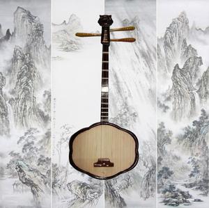 秦琴 梅花琴 客家梅花琴 潮汕乐器 七律(40元是梅花琴袋子价格)