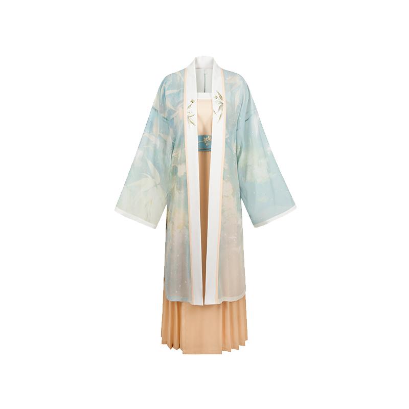 【十三余 小豆蔻儿】[西湖龙女-实体店纪念款]对襟衫百迭裙汉服女