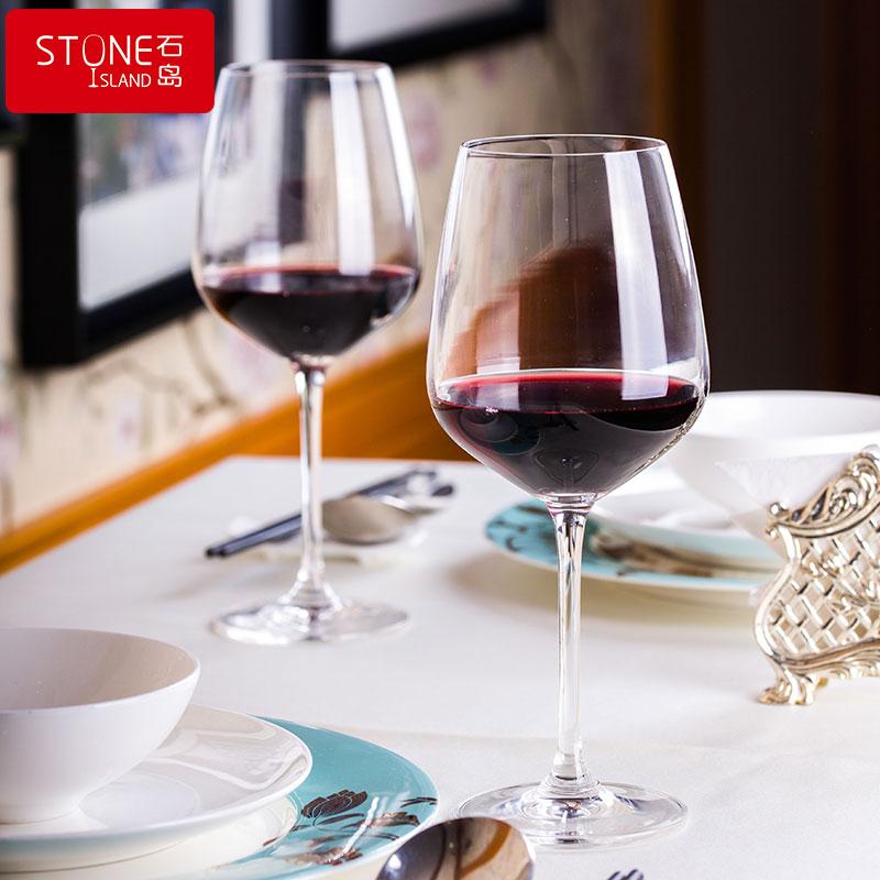 [厂家自营]石岛维多利亚欧式无铅水晶高脚杯套装家用红酒葡萄酒杯