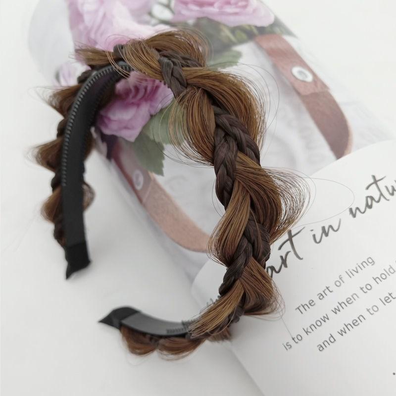 八字女手工编织接发片女士款发辫假发形葫芦八字片新娘发饰发带辫