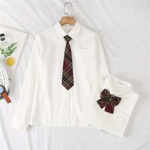 JK制服衬衫女长袖2021春季新款学生学院风领带衬衣短袖夏季上衣