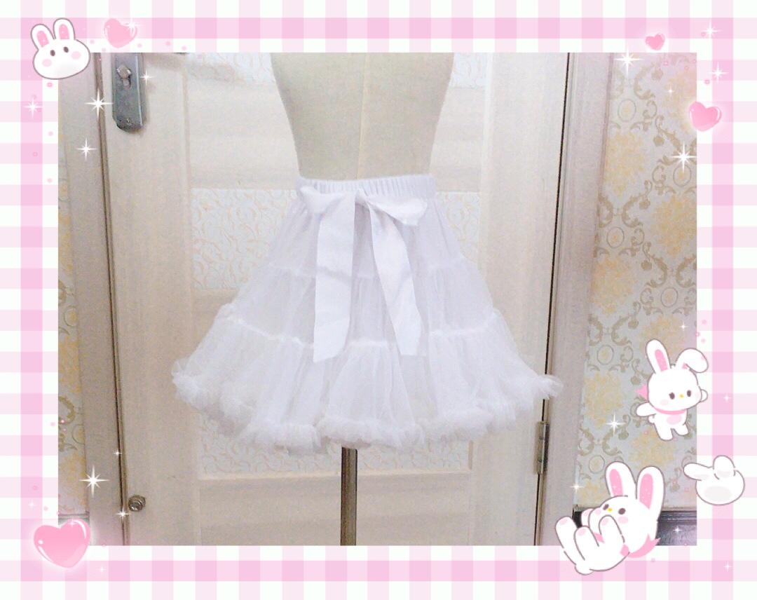 Dress support Lolita Lolita Dress super top violence everyday soft yarn boneless petticoat cloud support marshmallow