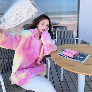 【新款】9号出数据爆 拼色彩虹羊羔毛卫衣262A-S162-P115K168,女装卫衣/绒衫,Yologo