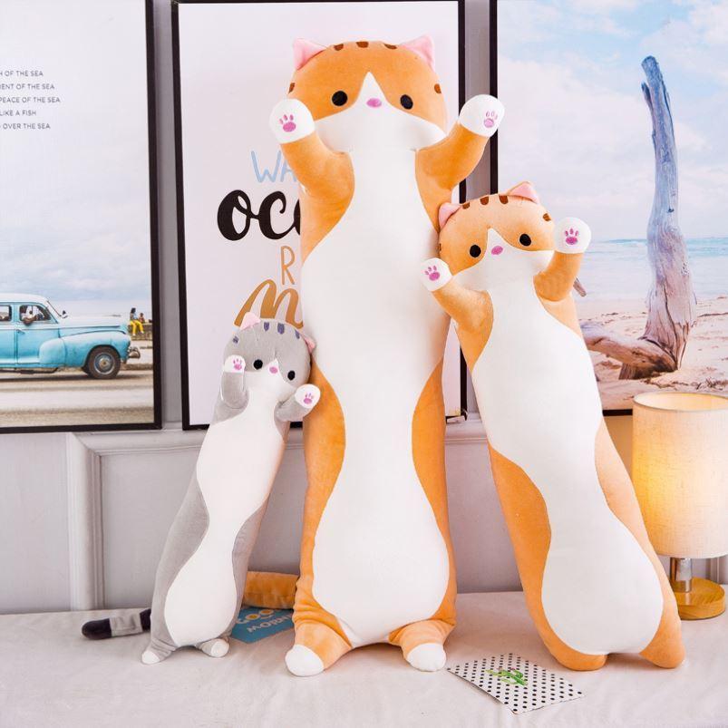 中國代購 中國批發-ibuy99 毛绒玩具 可爱猫咪公仔毛绒玩具布娃娃长条抱枕韩版儿童床上抱着睡觉玩偶女