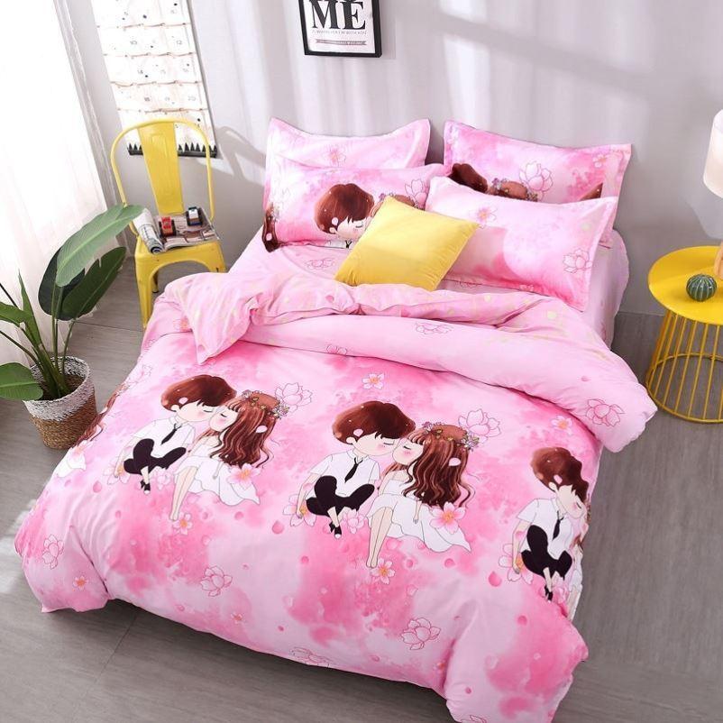 中國代購|中國批發-ibuy99|床上用品|北欧风黑白奶牛斑纹四件套1.5m1.8米床上用品单人学生宿舍三件套4